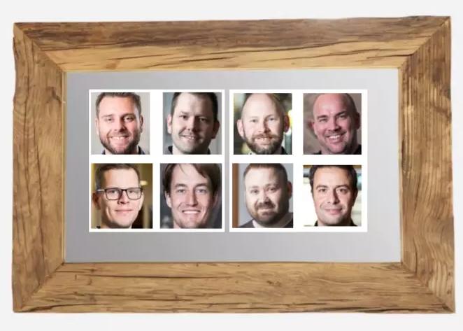 Asbjørn Alexander Fellinghaug, Arve Skogvold, Ivar Katmo, Thomas Nesser, Anders S Pedersen, Sebastian Roll, Kenneth Aamodt og Jonas Helgemo