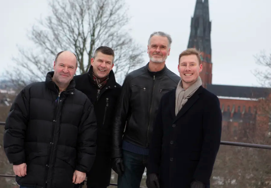Patrik Larsson, Eje Thorarinsson, Kristján Jónsson og Niklas Abrahamsson