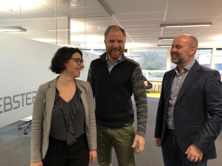 Angèle Abboud, Erlend Nævdal og Ken Roar Riis