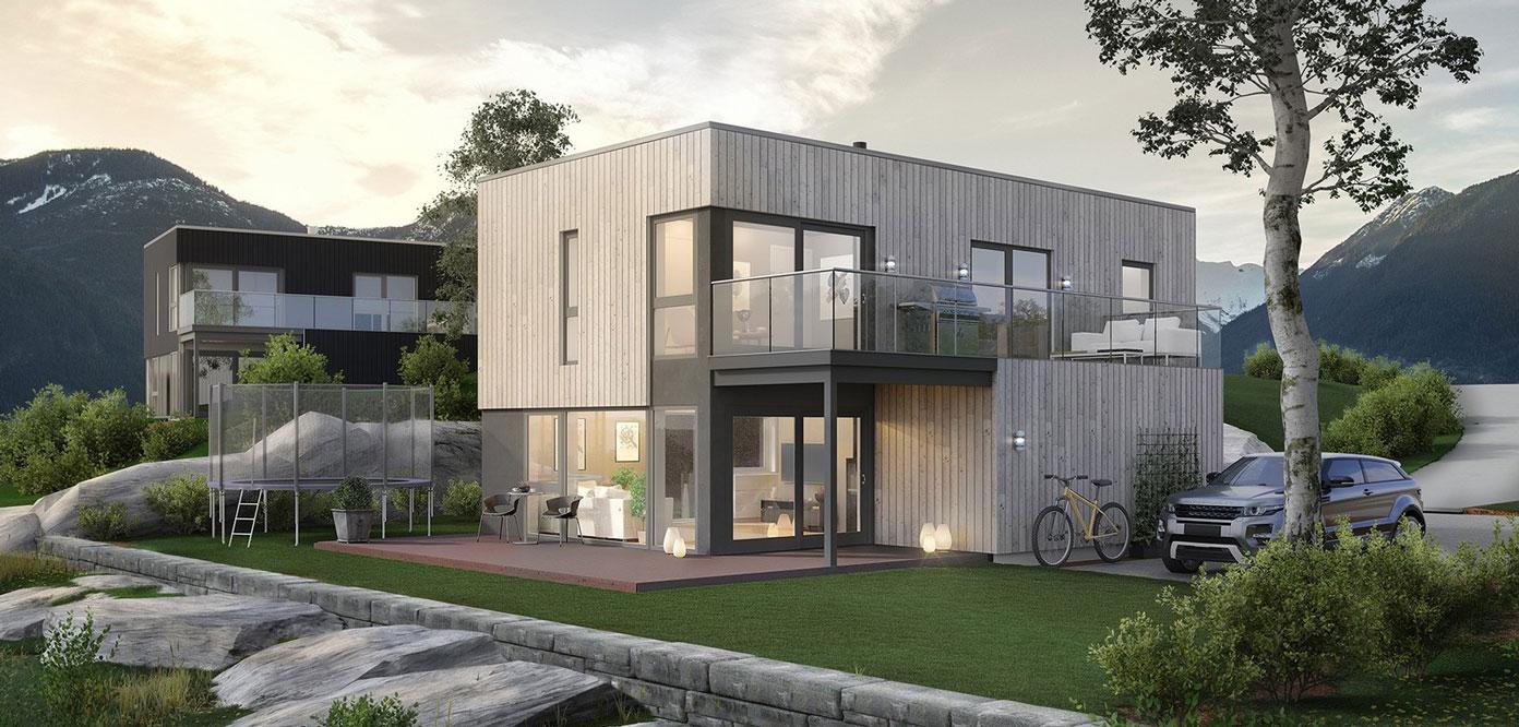 Moderne og stilrent hus